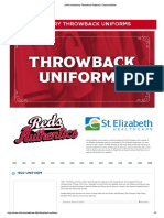 150th Throwback Uniforms Reds