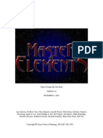 Master Of Elements Design Document