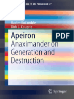 Kočandrle y Couprie Apeiron Anaximander on generation and destruction