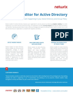 Netwrix Auditor for Active Directory Datasheet