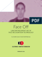 Face Off - Law Enforcement Use of Face Recognition Technology