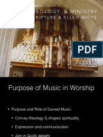 Purpose of music in worship