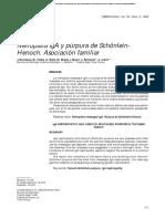 Nefropatía IgA y púrpura de Schönlein- Henoch. Asociación familiar