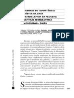 Vetores de importância médica na área de influência da pequena central hidrelétrica Mosquitão - Goiás