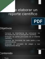 Cómo Elaborar Un Reporte Científico