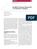 What is Wrong With Turnover Research-Commentary on Russell's Critique