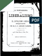 La Bancarrota Del Liberalismo y El Catolicismo Liberal - Henri Ramière, S. J