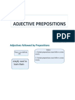Adjective Prepositions