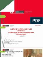 """I JORNADA INTERNACIONAL DE VIOLENCIA"""" Violencia de genero con Enfoque en Discapacidad"""