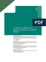 A taxa de câmbio do Brasil é válida no longo prazo