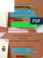 Cause and Effect Essay Organization (1)