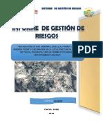 Informe de Gestion de Riesgo- Pistas y Veredas