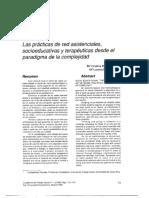 Las prácticas de red asistenciales, socioeducativas y terapéuticas desde el paradigma de la complejidad