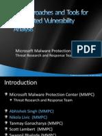 Automated Vulnerabiltiy Analysis