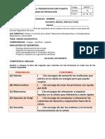 PRESENTACION GUIA DIAGNOSTICA BIOLOGIA  GRADO 8°- 2018 MIGUEL AREVALO