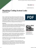55147 Popular Mechanics Repairing Cooling System Leaks