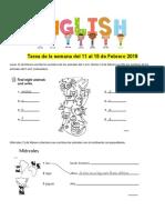Tarea Del 11 Al 15 de Febrero 2019