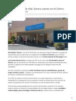 03-02-2019 - Una esperanza de vida Sonora cuenta con el Centro Estatal Oncológico - Tribuna.com.mx