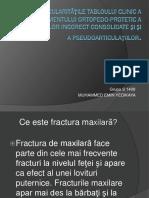 Tabloului Clinic a Trtamentului Ortopedo Protetic a Fracturilor