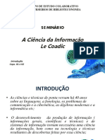 A ciencia da informação Le Cosadic
