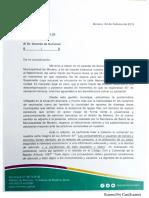 Carta del municipio de Moreno a Supervielle