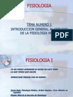 1 Introduccion a La Catedra de Fisiologia