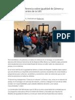 30-01-2019 - Imparte ISM conferencia sobre Igualdad de Género y Respeto a estudiantes de la UES - Canalsonora.com