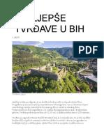 Najljepše Tvrđave u BiH