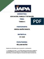 Tarea 4 Educacion. Familia y Nutrición Docx