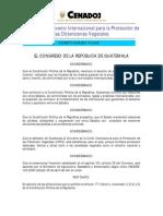 Dto 019-2006 Aprueba el Convenio Internacional para la Protección de las Obtenciones Vegetales