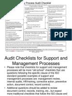 IATF Process Audit Check Sheet Format