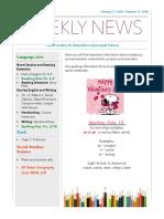 weekly newsletter-feb 11-feb 15