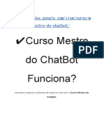 Curso Mestre Do ChatBot Funciona?