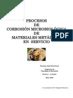 Procesos de Biocorrosión Microbiológica