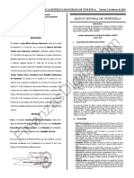 Gaceta Oficial 41577 BCV Estudio Comparativo TDC TDD