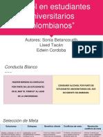 """Artículo """"Consumo de Alcohol en Estudiantes Universitarios Colombianos"""""""