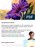 Purple Hibiscus Background With Plot Overview