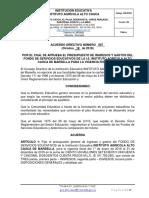 ACUERDO N° 007 DE 2018 PROYECTO PRESUPUESTO 2.019 -