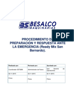 PR-MX-002 Procedimiento de Preparacion y Respuesta Ante La Emergencia ReadyMix San Bernardo