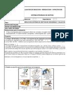 SG-R-132 Evaluación de Induccion, Reinduccion, Capacitacion