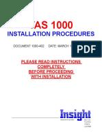 TAS 1000 & TF-500 Installation Manual