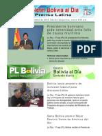 Boletín Bolivia Al Día. 17 de Septiembre de 2018