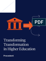 Transforming Transformation in Higher Education