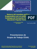 Recorrido Visual Dia 4 Balance Politicoprog CEAAL EFPyAI 17y18nov2018