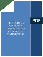 Proyecto de Extensión de Carrera de Matemáticas