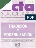 Tradición y modernización en Max Weber