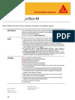 Ficha técnica Estuco SIKA
