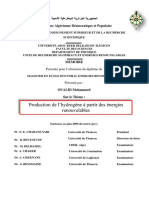 Production de l'HydrogLne a Parti