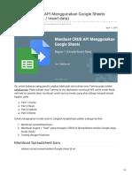Membuat CRUD API Menggunakan Google Sheets Bagian 1 Create Insert Data
