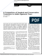 A Comparison of Surgical and Conservative Treatment in Ankle Ligament Tears